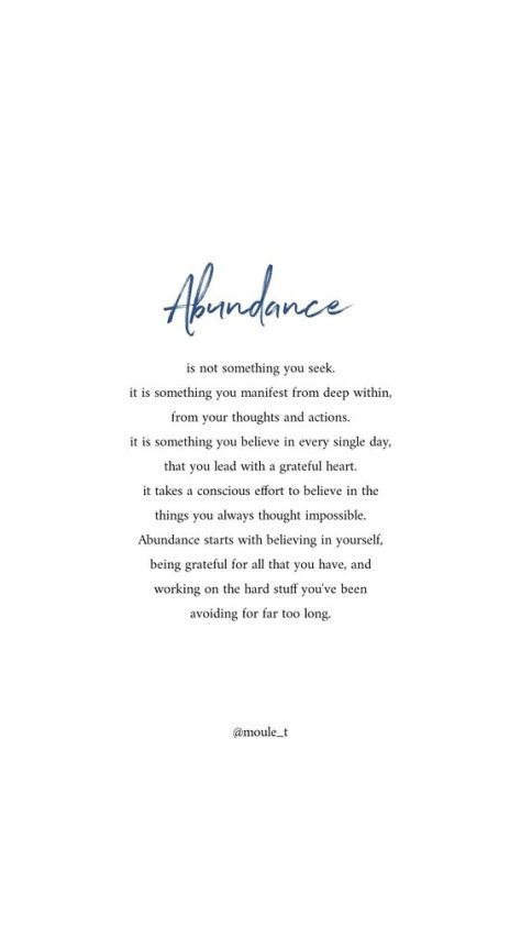 Abudance