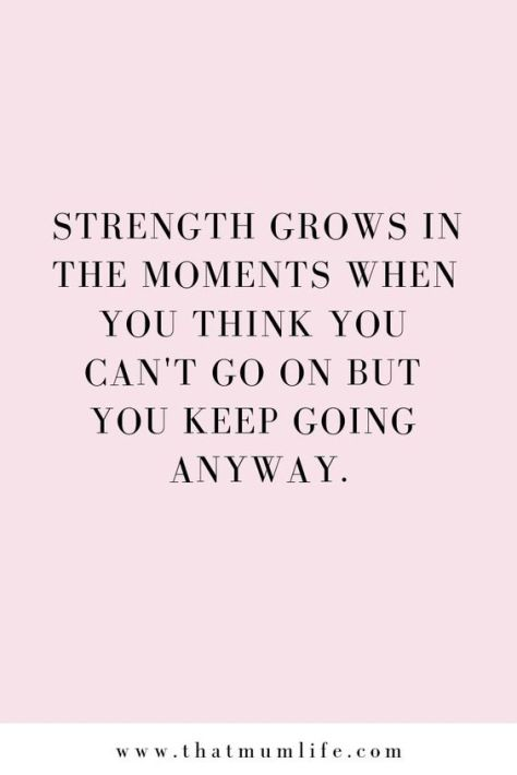 Strenght grows